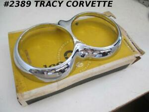 1958 1960 Corvette Headlight Trim Ring Bezel Gm 3742509 Casting 3779239