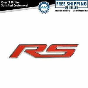 Oem 95060344 Rs Rear Nameplate Emblem Red For Chevy Sonic Hatchback New