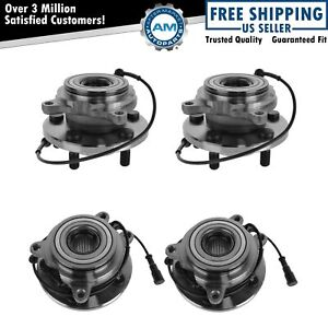 Wheel Bearing Hub Front Rear Kit Set Of 4 For Land Rover Discovery Series Ii