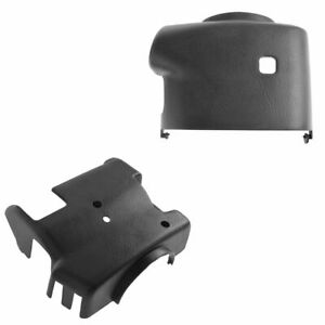 Oem Steering Column Cover Shroud Set Upper Lower Graphite For Chevy Gmc W At
