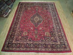 Hand Knotted Kashan Rug Signed Persian Eastern Oriental 10x13 Area Rug Durable