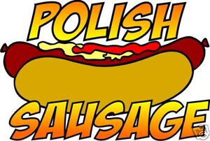 Polish Sausage Hot Dog Concession Restaurant Food Truck Vinyl Decal 14