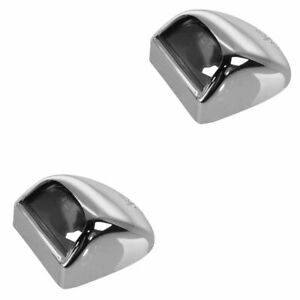 Oem License Plate Light Lh Rh Step Bumper Chrome Pair Set Of 2 For Chevy Gmc