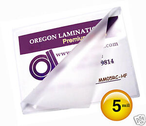5 Mil Hot Mini Menu Laminating Pouches 11 1 4 X 17 1 4 50 For 11x17 Sheets