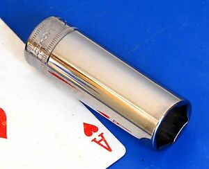 Snap On Tools 3 8 Drive 17mm Deep Metric 6 Point Chrome Socket Wrench New 2015