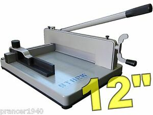 New Original Stack S12 Paper Cutter Heavy Duty Desk Top Guillotine
