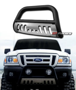 Matte Black Steel Bull Bar Bumper Grille Guard ss Skid 1998 2011 Ford Ranger