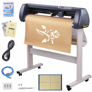 34 Vinyl Cutter Plotter Cutting Machine Sign Sticker Making Software 3 Blades