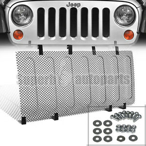07 18 Jeep Wrangler Jk Front Hood Grille Steel Mesh Guard Rugged Radiator Armor