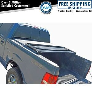 Tonneau Cover Soft Tri Fold For Ford F150 Pickup Truck Crew Cab 5 5ft Bed New