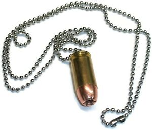 Bullet Necklace .45 ACP Hollow Point Full Metal Jacket Brass Casing - NEW Qty-3