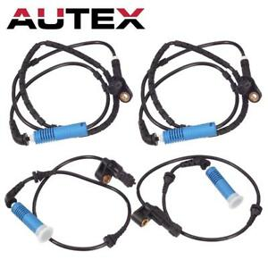 4pcs Abs Wheel Speed Sensor For 00 08 Bmw 320i 325i 325ci Front rear 34526752681