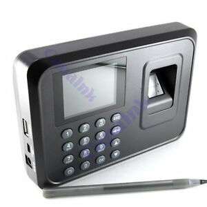 New 2 4 Tft Fingerprint Time Attendance Clock Employee Payroll Recorder