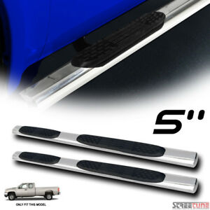 For 99 18 Silverado Extended Cab 5 Oval Ss Side Step Nerf Bars Running Boards
