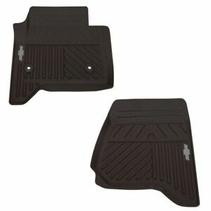Oem Floor Mat Molded Rubber Cocoa Front Pair Set Of 2 For Chevy Pickup Truck New