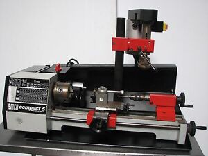 Emco Compact 5 Lathe Mill Watchmakers Jewelry Hobby Milling Head Austria Nice