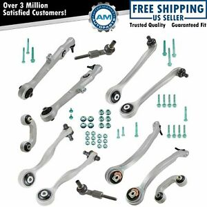 Control Arms Tie Rod Ends Sway Bar Links Front Kit Set Of 12 For Audi A4 S4
