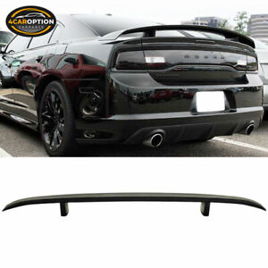Fits Dodge Charger 06 10 Oe Style Rear Trunk Spoiler Wing Lid Matte Black Abs