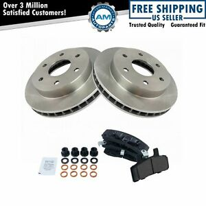 Front Disc Ceramic Brake Pads Rotors Kit For Chevy Gmc Pickup Truck