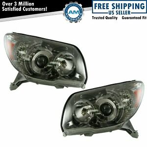 Headlights Headlamps Left Right Pair Set For 06 09 4runner W Sport Package
