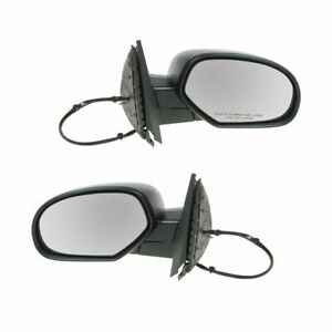 Side View Mirrors Power Heated Silver Left Right Pair Set For Chevy Gmc Truck
