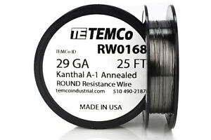 Temco Kanthal A1 Wire 29 Gauge 25 Ft Resistance Awg A 1 Ga