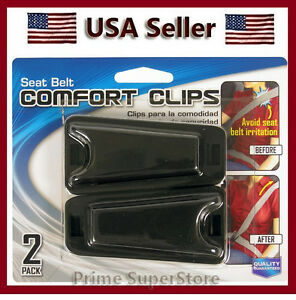 New 2 Clips Seat Belt Comfort Adjuster No Neck Tention Of The Seatbelt Car auto