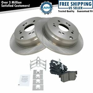 Rear Premium Ceramic Brake Pad Rotor Kit For Acura Rdx Honda Cr v Crv