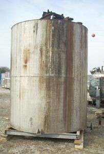 11578 007 Used Approximately 2500 Gallon Vertical Stainless Steel Storage Tank