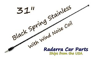 31 Black Spring Stainless Am Fm Antenna Mast Fits 2009 2021 Ford F 150