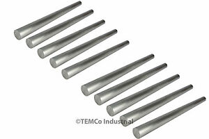 10 Lot 11 16 Inch Diameter 12 Long 6061 Aluminum Round Bar Lathe Rod Stock