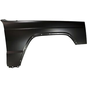 Fender For 1997 2001 Jeep Cherokee Front Passenger Primed Steel W Molding Holes