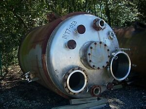 11177 053 Used 1350 Gallon Polished Stainless Steel Reactor Body