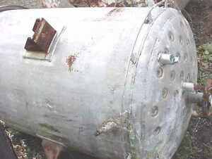 10926 tk406 Used Approx 240 Gallon T304 Stainless Steel Vertical Jacketed Tank
