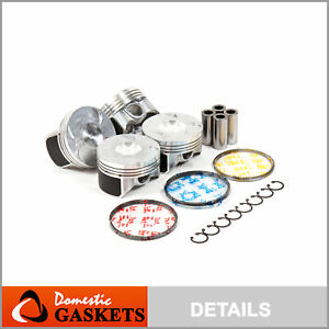 Fit 06 09 Honda Civic 1 8l 16 Valves Sohc Pistons And Rings Set R18a1