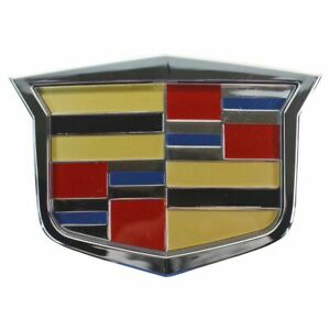 Oem 25765149 Crest Grille Emblem For Cadillac Cts Srx Sts New