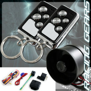 For Chevy Ford 1 Way 4 Button Remote Siren Search Black Chrome Security Alarm