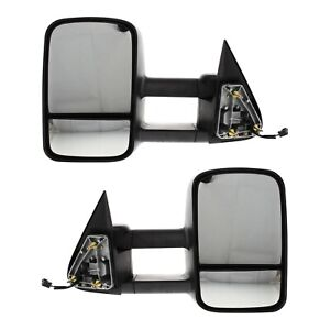 Power Towing Mirror Pair For 1999 2006 Chevy Silverado 1500 Htd Telescopic