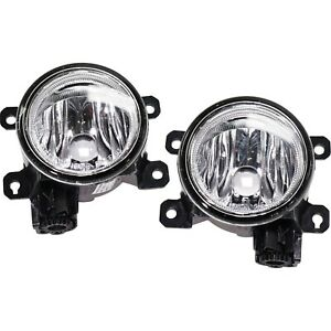 Set Of 2 Clear Lens Fog Light For 2013 15 Honda Accord Lh Rh Capa W Bulbs