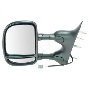 Dual Arm Towing Power Mirror Left Hand Lh Driver Side New For Ford Econoline