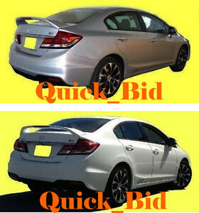 2012 2014 Honda Civic 4d Factory Si Style Spoiler Rear Trunk Wing Painted Wing