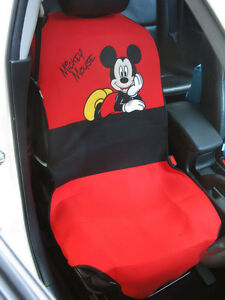 Mickey Mouse Car Accessory c 1 Piece Car Seat Cover Red black