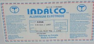 Indalco Aluminum Mig Welding Wire 5356 20 Spool 030 Made In Canada New