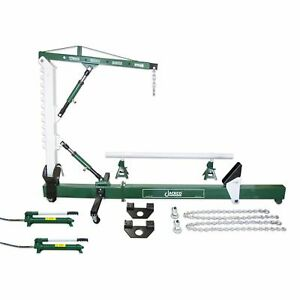 Jackco Auto Body Frame Repair Straightener With 1 2 Ton Crane And Swivel Post