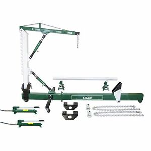 10 Ton Auto Body Frame Repair Straightener With 1 2 Ton Crane And Swivel Post