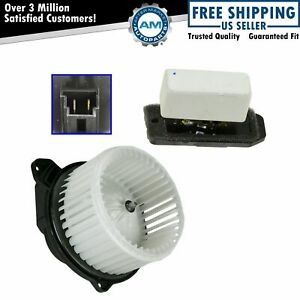 Heater Blower Motor With Fan Cage Resistor Kit Set For Dodge Ram Pickup Truck