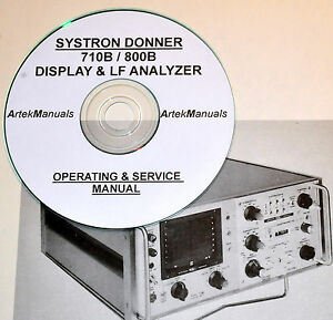 Systron Donner 710b 800b Display Spectrum Analyzer Ops Service Manual