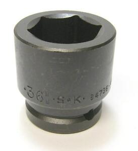 Sk Tools 84736 Drive 6 Point Metric Impact Socket 36mm