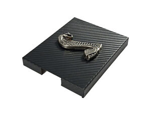 1998 2004 Mustang Carbon Fiber Stainless Engine Fuse Box Cover W Cobra Emblem