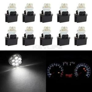 10pcs T10 White Led With Sockets Instrument Panel Dash Light Bulb 194 168